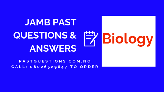 JAMB Past Questions and Answers on Biology PDF