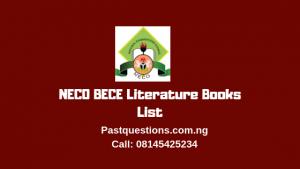 NECO BECE Literature Books List 2019
