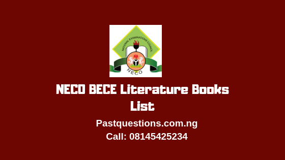 NECO BECE Literature Books List 2019